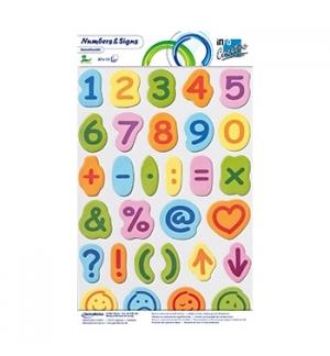 Bloco Adesivo Motivo Numeros e Simbolos 30unid x 15fls