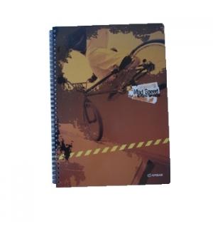 Caderno Espiral Ambar Mad Speed A5 Quadriculado 120 Folhas