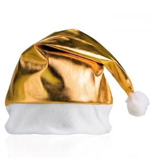 Gorro Pai Natal Dourado