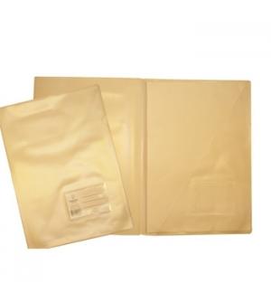 Pasta Plastico c/Bolsa/Visor A4 (321A) Opaco Branco Pack 10