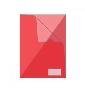 Bolsa Plastico em L A4 Transparente Vermelho 1un