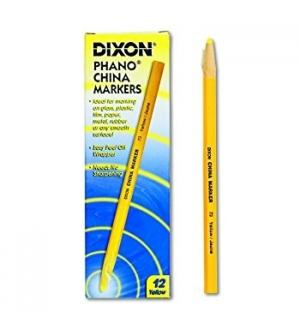 Lapis Dermatografico Dixon China Marker Amarelo Cx 12un