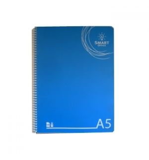 Caderno Espiral A5 Smart Office Capa Plastico Quadriculad