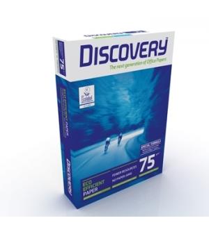 Papel Fotocopia A4 075gr Discovery 5x500Folhas