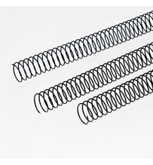 Argolas Espiral Metalicas Passo 51 08mm Cx 100 Preto