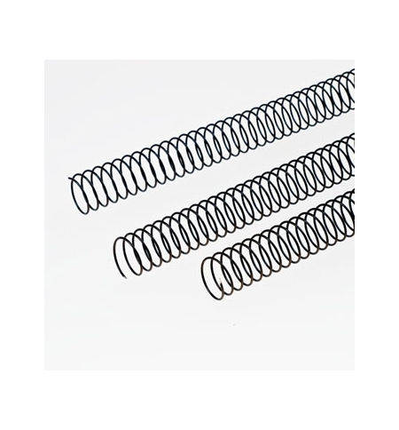 Argolas Espiral Metalicas Passo 51 18mm Cx 100 Preto