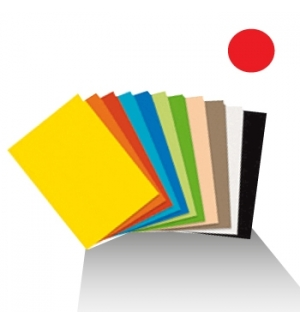 Cartolina 180gr 1 folha 50x65cm Vermelho
