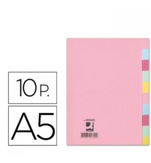 Separadores Cartolina A5 10Un (KF00342)