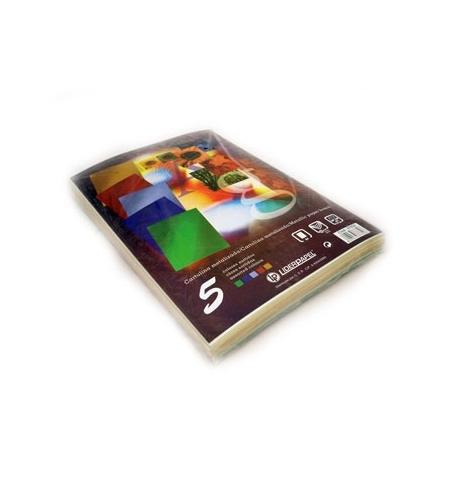 Cartolina 235gr 50Folhas A4 Metalizada (5 Cores) (37652)
