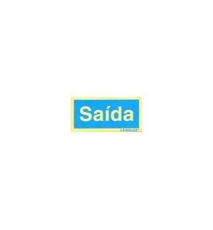 Sinaletica (Saida) Plastico Adesivo 17x55mm