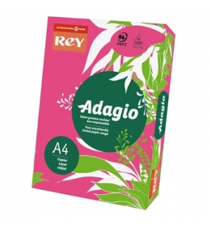 Papel Fotocopia Adagio(cd13)A4 80gr(Rosa Fluorescente)1x500F