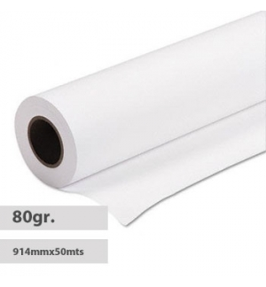 Papel Plotter 80gr 914mmX50mts Evolution Premium Extra - 4un