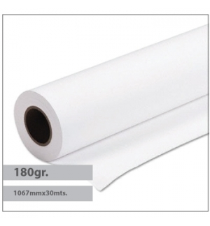 Papel Premium Coated 180gr 1067mmx30mts - 1 Rolo