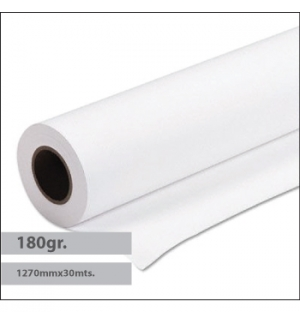 Papel Premium Coated 180gr 1270mmx30mts - 1 Rolo