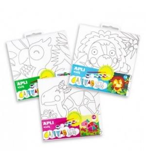 Tela Apli Kids Little Artist Desenho Leao 1un