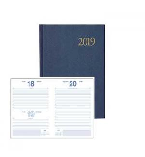 Agenda Diaria 2019 A5 (14cmX20cm) Azul