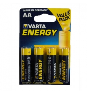 Pilhas Alcalinas Varta Energy LR6 AA 15V 2600mAh 4un