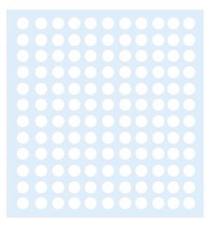 Etiquetas Redondas 10mm Branco Markin 1200un