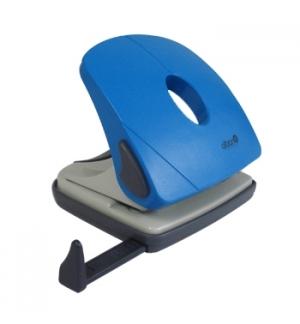 Furador Metalico Azul c/Regua para 25Folhas
