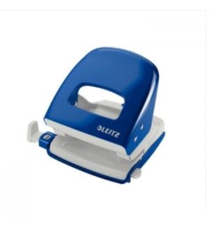 Furador Leitz 5008 25mm c/Regua 25 Folhas Azul
