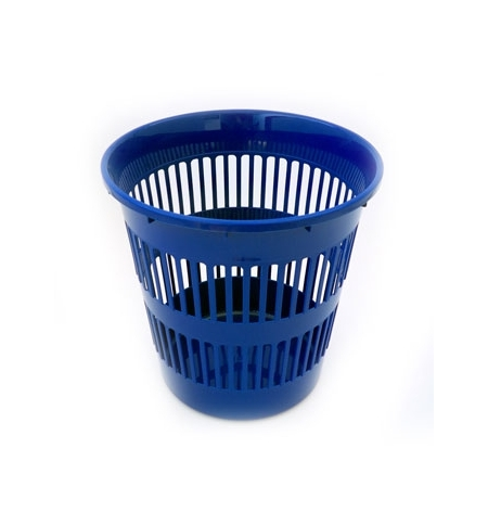 Cesto Papeis Plastico Azul 15 Litros