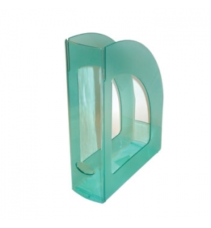 Porta Revistas 320x250x80mm Plastico Translucido Verde