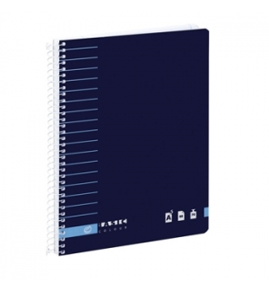 Caderno Espiral Liso Ambar A5 C/Azul 80F 70Grs Basic
