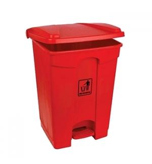 Contentor Plástico c/Pedal 45 Litros Vermelho