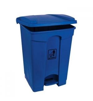 Contentor Plástico c/Pedal 45 Litros Azul