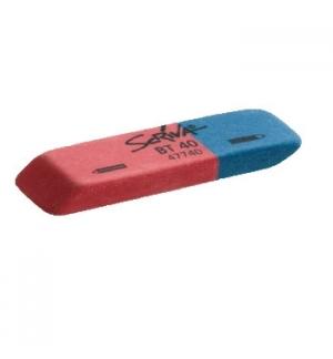Borracha Mista Azul/Vermelho 58x19x8 Scriva 1un