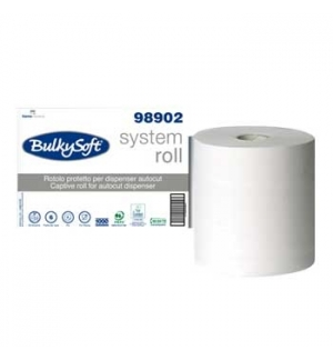 Rolo Toalhas Maos BulkySoft Fl Dupla Branco 21cm(250mts)-6u