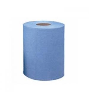 Rolo Toalhas Maos BulkySoft Fl Dupla Azul 21cm(200mts)-6un