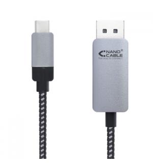 Cabo DisplayPort Macho / USB-C Macho 1,8m