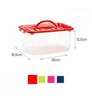 Caixa Plástico 28x18,5x12,5cm 3,5 Litros