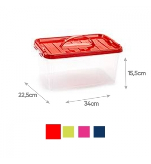 Caixa Plástico 34x22,5x15,5cm 8L