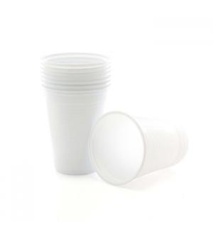 Copos Plastico Branco (Agua/Cha) 200ml-(Pack50)