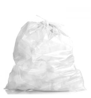 Sacos Lixo Plast 50Lts c/Fecho Branco 23my (60x85cm)-10un