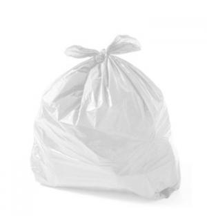 Sacos Lixo Plast 50Lts Branco 23my (60X80cm) (Pack 10)