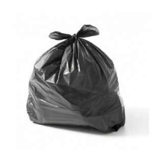 Sacos Lixo Plast 30Lts c/Fecho Preto 15my (55x60cm) (15un)