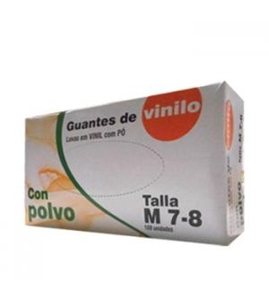 Luvas Vinil c/Po Super Finas Tamanho (M) - (Pack 100un)
