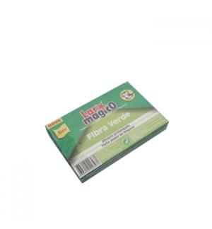 Esfregao Fibra Verde para Loica Pack 3unid