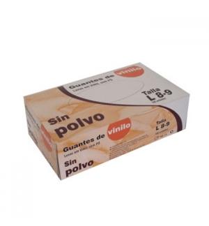 Luvas Vinil s/Po Super Finas Tamanho (L) - (Pack 100un)