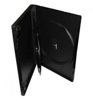 Caixa para CD/DVD Duplo 14mm - Preto - Rectangular 1un