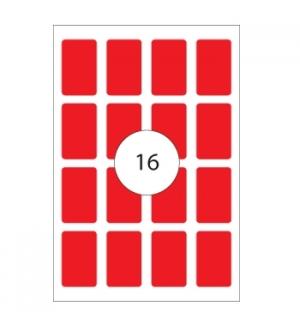 Etiquetas 25x40 Apli 8 Folhas 128un Vermelho