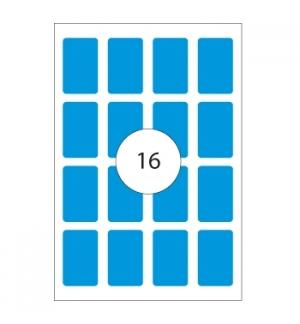 Etiquetas 25x40 Apli 8 Folhas 128un Azul