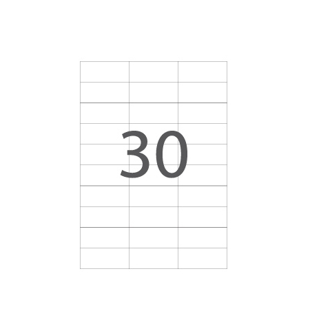 Etiquetas 70x30 Multi3 100 Folhas A4 2700un