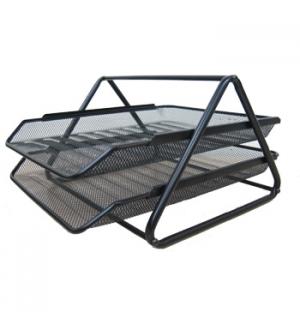 Tabuleiro em rede metalica Preto com 2 Gavetas