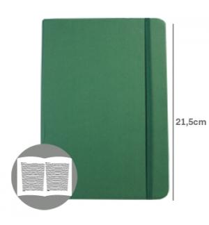 Bloco Notas Pautado 215x145cm Semi Pele Verde Esmeralda