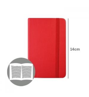 Bloco Notas Pautado 14x9cm Semi Pele Vermelho 116 Flh agenda