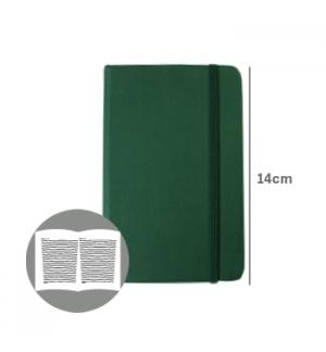 Bloco Notas Pautado 14x9cm Semi Pele Verde Esmeralda 116F